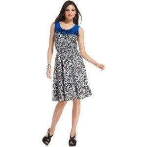ALFANI Sleeveless Geo-Print Fit & Flare Dress [B3]